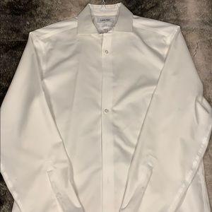 Calvin Klein Slim Fit White Dress Shirt